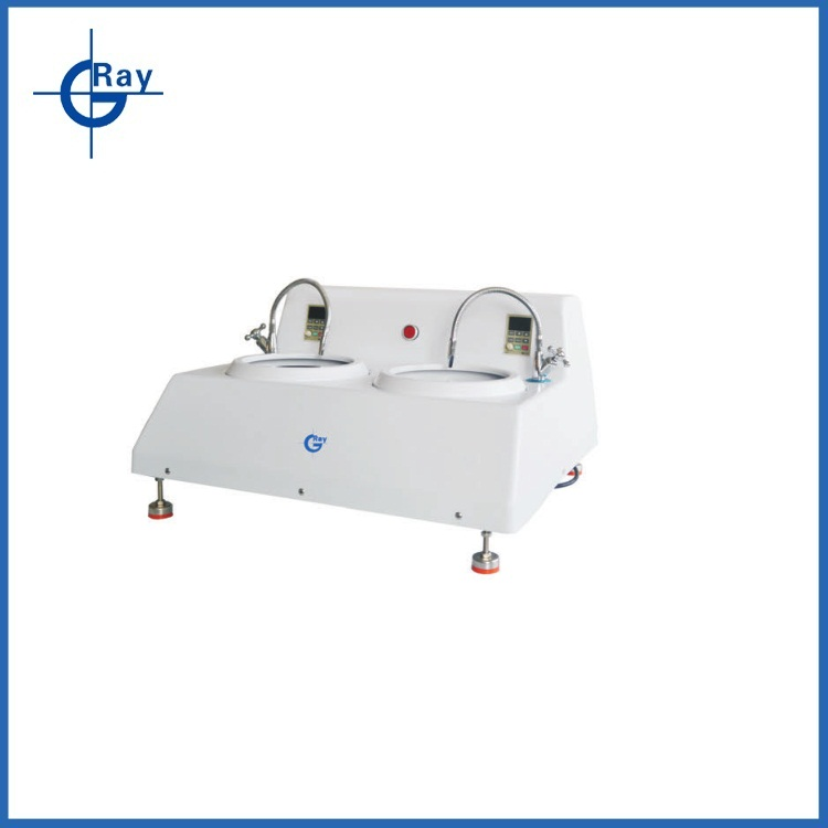 Double-wheel grinding and polishing machine